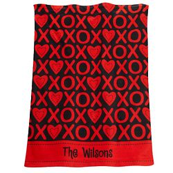 Personalized Valentine XOXO Hand Towel