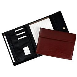 Leather Flap Portfolio Organizer with Magnetic Closure