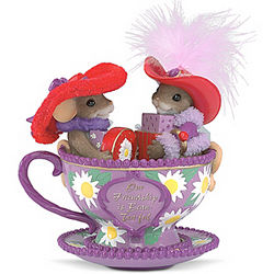 Our Friendship Is Beau-Tea-Ful Tea Cup Figurine