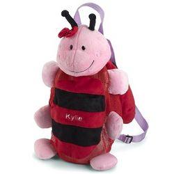Ladybug Plush Backpack