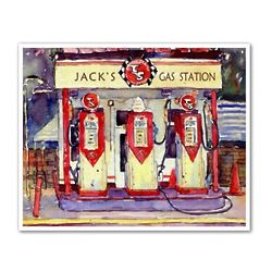Old Time Gas Station Personalized Art Print