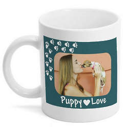 Personalized Puppy Love Photo Mug