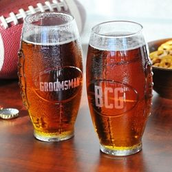 Personalized Football Beer Glass