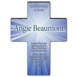 Personalized Guardian Angel Prayer Starburst Cross
