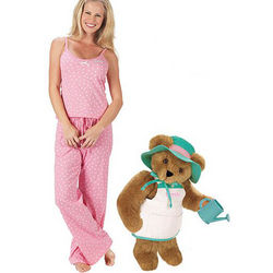 Everything Grows with Love Teddy Bear and SM Pink Cami PJs