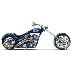 Seattle Seahawks Motorcycle Figurine