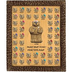 Personalized Bears Plaque for Nurse