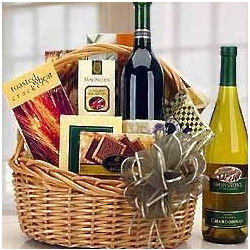 Expressions Red or White Delights Wine Gift Basket