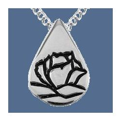 Memorial Tear Sterling Silver Pendant