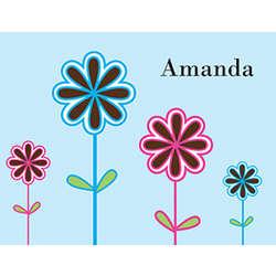 Personalized Flower Garden Notecards