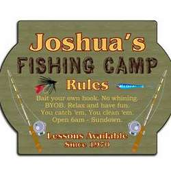 Personalized Fishing Camp Sign