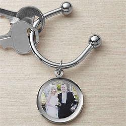 Personalized Wedding Photo Key Ring