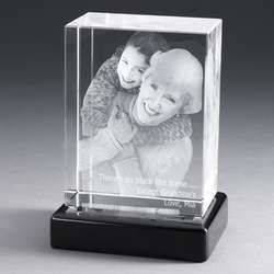Portrait Photo Crystal with Black Base