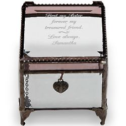 Personalized Message Glass Trinket Box