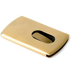 Gold Plated Finger Dispensor Business Card Holder
