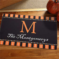 Halloween Spirit Personalized Halloween Doormat