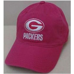 Girl's Packers Pink Logo Baseball Cap