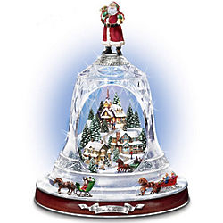 Ring In The Season Musical Animated Crystal Bell Sculpture