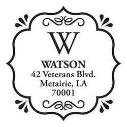 Decorative Square Return Address Personalized Stamp