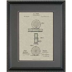 Fly Fishing Reel Framed Patent Art Print