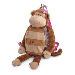 Girl Monkey Plush Backpack