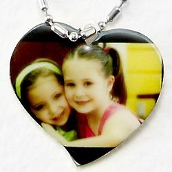 Personalized Photo Heart Pendant