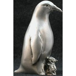 Penguin and Chick Pewter Figurine