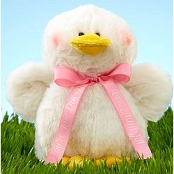 Webkinz Duck with Personalized Pink Ribbon