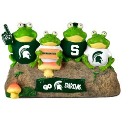 Michigan State Spartans Frog Bench Lawn Sculpture