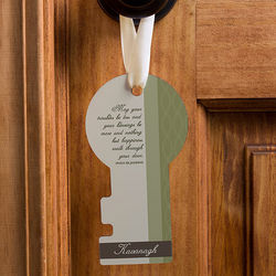 Personalized Irish Blessing Door Key