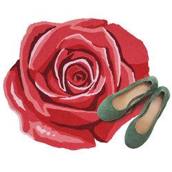 Blooming Rose Hooked Rug