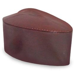 My Heart Mahogany and Leather Jewelry Box