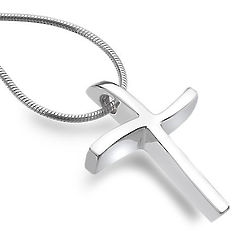 Saved By Grace Cross Necklace in Sterling Silver