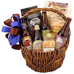 Microbrew Munchy Gift Basket