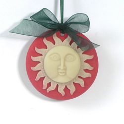 Sun Medallion Christmas Tree Ornament