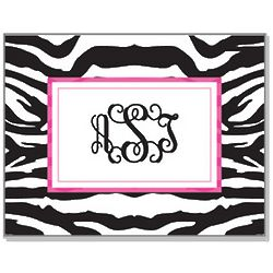 Personalized Zebra Notecards & Envelopes