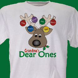 Personalized Christmas Reindeer T-Shirt