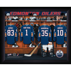 Personalized NHL Edmonton Oilers Locker Room Print