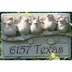Personalized Outdoor Baby Birds Plaque