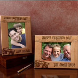 Personalized A Monster Truck for Dad 4x6 Wooden Picture Frame