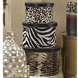 3-Piece Animal-Print Box Set