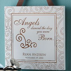 Personalized Baby Wall Hanging Plaque