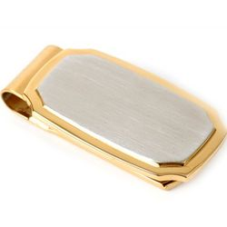 Badge Collection Two Tone Stainless Steel Money Clip