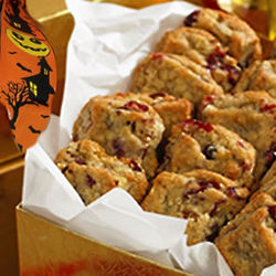 3 Dozen Cookies and Halloween Ribbon in Gold Box