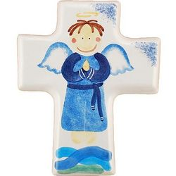 Boy Angel Small Ceramic Cross