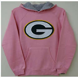 Packer Youth Pink Sportsman Hoodie