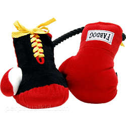 Boxing Gloves Dog Toy