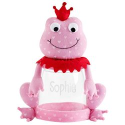 Personalized Valentine Plush Frog Treat Jar
