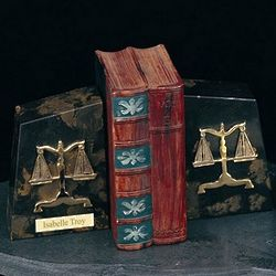 Personalized Marble Legal Bookends