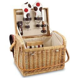 Kabrio Willow Wine & Cheese Picnic Basket with Service for 2